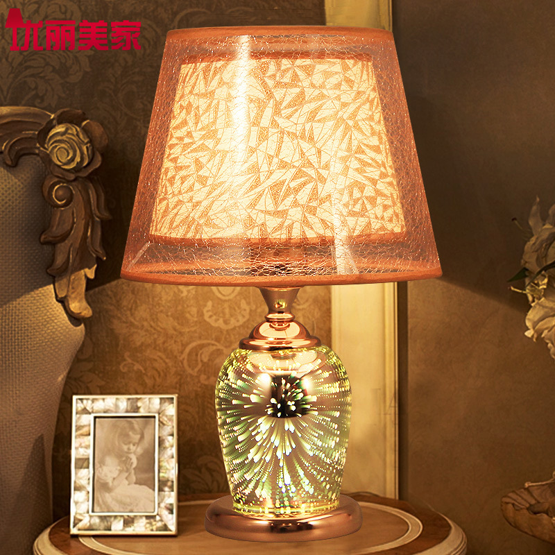 TUDA 26x41cm Free Shipping Creative LED Table Lamp 3D Firework Decoration Table Lamp For Bedroom Bedside Lamp Living Room E27