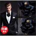 Новый Бесплатная Доставка моды случайные мужские мужской золотой рог лук галстук жених Groomsmen multi СВАДЕБНЫЙ ГАЛСТУК-БАБОЧКУ бизнес костюмы на продажа