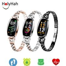 Водонепроницаемые смарт-браслеты для женщин, измерение артериального давления, фитнес-трекер, электронные смарт-часы