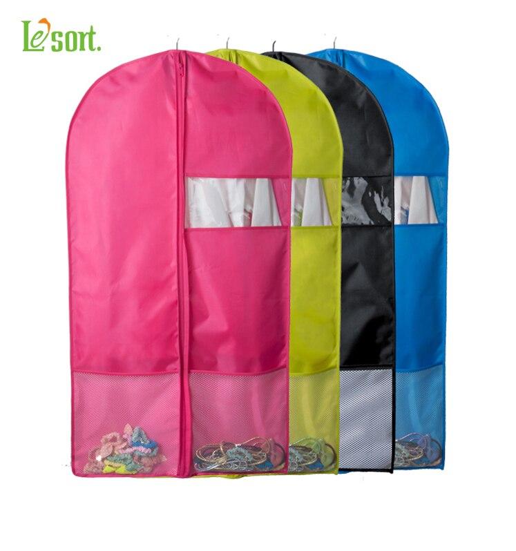 100% POLYESTER καραμέλα χρώμα αναπνεύσιμο ύφασμα ρούχα τσάντα αποθήκευσης ρούχα φόρεμα ρούχα πτυσσόμενα κάλυψη κοστουμιών, ρούχα αποθήκευσης τσάντα φερμουάρ