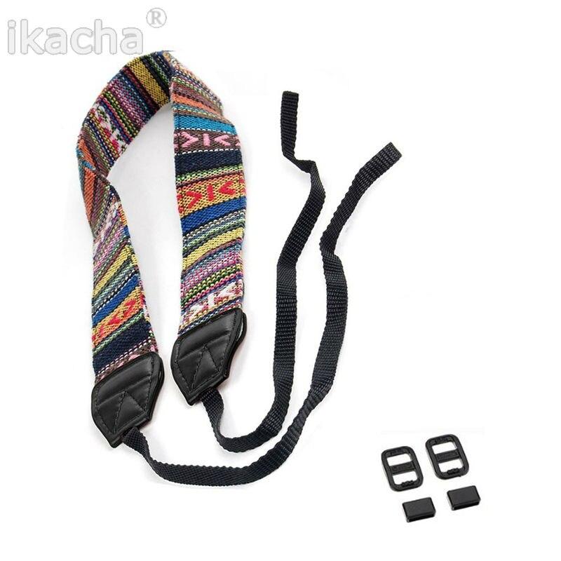 10pcs Vintage Hippie Style SLR DSLR Camera Neck Shoulder Strap Belt Durable Cotton for Canon Nikon Pentax Sony