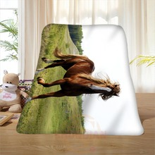 P#142 Custom Horse#51 Home Decoration Bedroom Supplies Soft Blanket size 58×80,50X60,40X50inch SQ01016@H+142