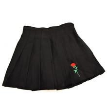 Korean Rose Embroidered Harajuku Skirt
