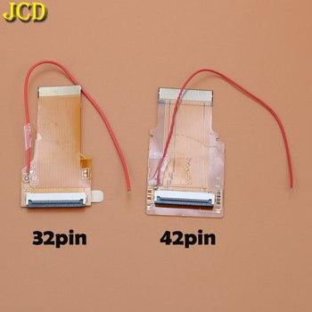 JCD Замена 32Pin 40 Pin ленточный кабель для игры мальчик advance GBA AGS 101 с подсветкой Адаптер экран мод с кабелем
