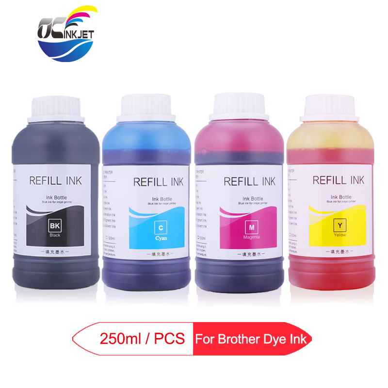 4 X 250ml Universal Dye Ink Bottle For Bother J480DW J562DW J4120DW J4610DW J4620DW J4710DW J5330DW J5730DW J6935DW Printer