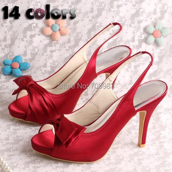 Women Wine Red Shoes Wedding High Heels Summer Sandals 2016 New Design