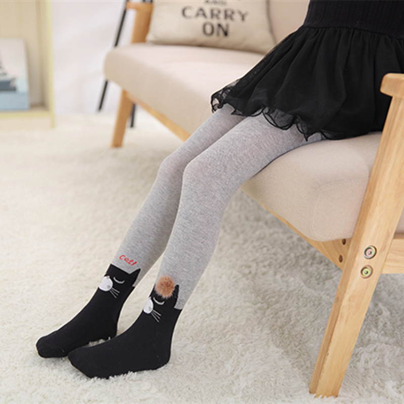 Cute Animals Print Tights For Girls Comfortable Knit Baby Girl Clothes Stockings Soft 2-12Y Baby Stockings Pantyhose For Dance