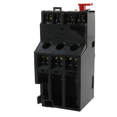 Manual Reset Ui 660V NO NC AC Motor Thermal Overload Relay 3 pole ac 0 63a 1a electric thermal overload relay 1 no 1 nc