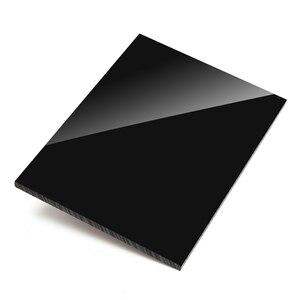 Lámina de plástico de plexiglás negro brillante, tablero de acrílico, metacrilato de polimetilo de vidrio orgánico de 1mm, 2mm, 3mm, 4mm de espesor de 100x100mm