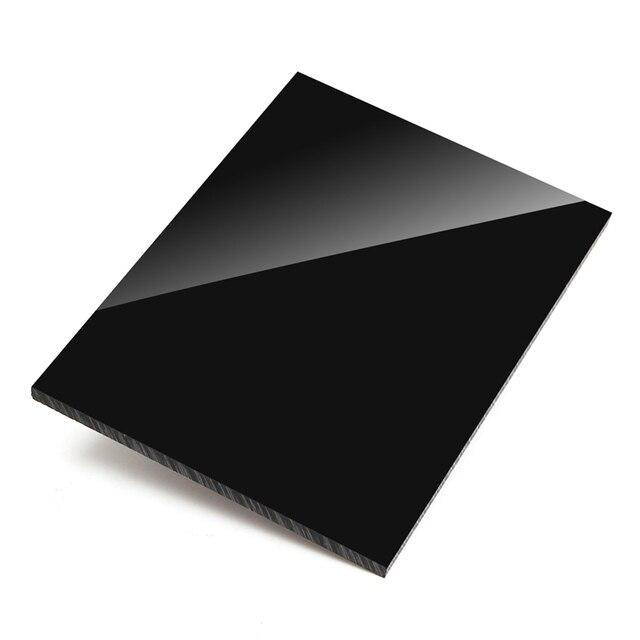 Lámina de plástico de plexiglás negro brillante, tablero acrílico, metacrilato de polimetilo de vidrio orgánico, 1mm, 2mm, 3mm, 4mm de espesor, 100x100mm