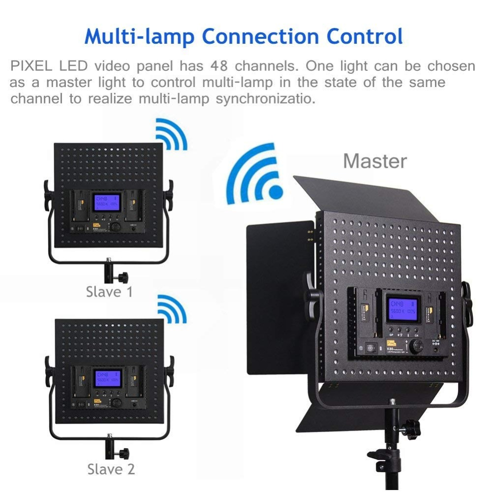 3pcs Pixel K80 Video Lampă de umplere LED 600pcs Becuri 2.4GHz - Camera și fotografia - Fotografie 4
