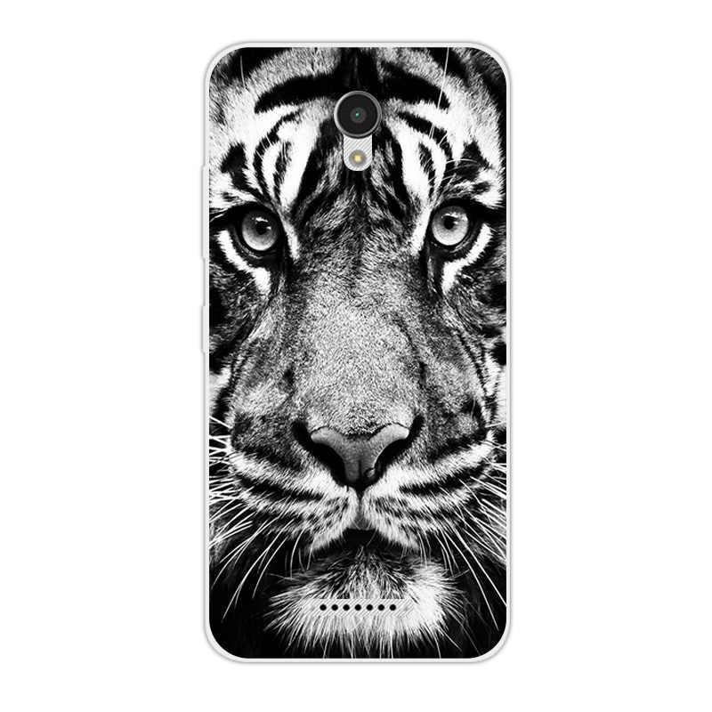 Para Lenovo Vibe B A2016 A1010 A20 un Plus APlus A1010a20 1010 A2016A40 de teléfono TPU suave tigre león cubierta para Lenovo un Plus A1010