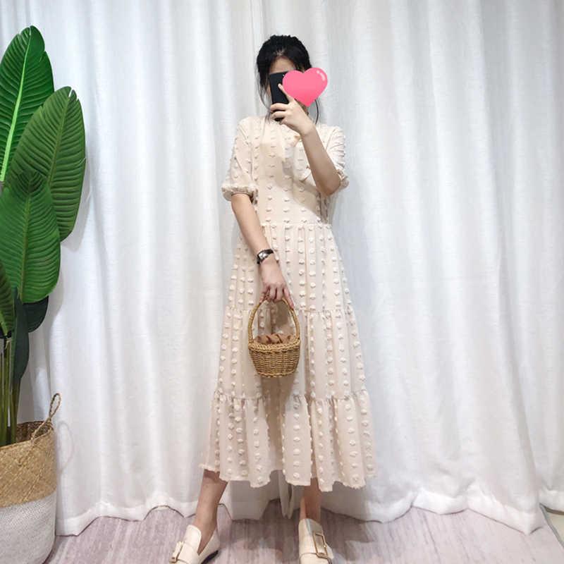 Высококачественное дизайнерское подиумное длинное платье 2019 летнее женское платье в стиле ампир с круглым вырезом и коротким рукавом с цветочным бантом Повседневное платье DR111