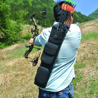 55*12.5cm Large Capacity Archery Arrow Quiver Holder for Compound Recurve Bow Arrow Outdoor Hunting Shooting Quiver Bag Black