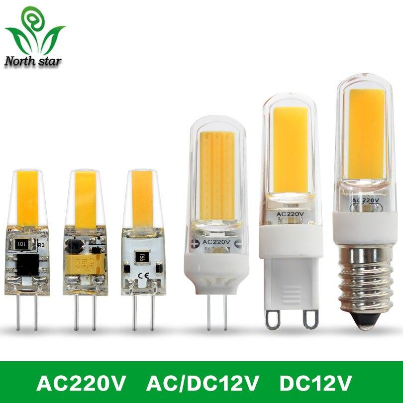 G4 a lâmpada led 12 v dc/ac 9 w 6 led g4 conduziu a luz de la super brillante g4 cob de silicona bombillas ampolla g9