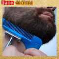 Mustache Groom Shave Comb Bar Hair Cut Bardbeard Man Cutter Beard Bro Beard Mold Lines Symmetry Male Trimmer Barba Mould Tools