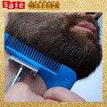 Novio bigote Afeitado Peine Bar Bardbeard Hombre de Corte de Corte de Pelo Simetría Hombres Trimmer Barba barba Barba Bro Líneas de Molde Molde herramientas