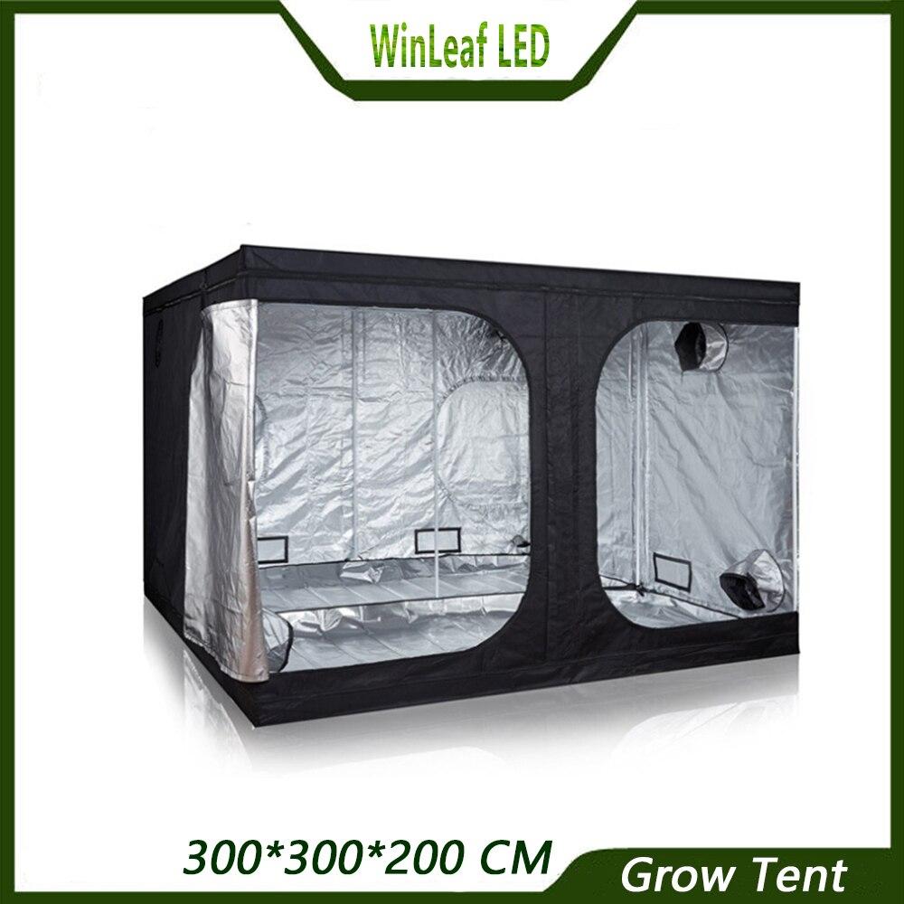 Расти Палатку 300*150*200 завод растут для внутреннего гидропоники парниковых завода освещения тяжелых 600D растет палатка