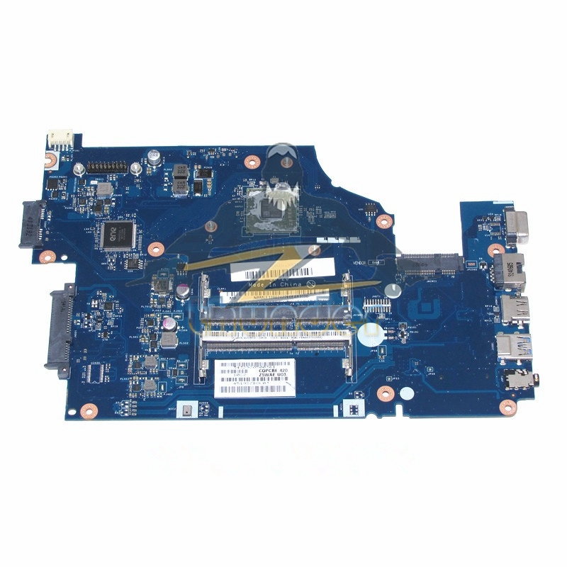 Z5WAE LA-B232P NBMLF11001 NB.MLF11.001 for acer aspire E5-521 laptop motherboard DDR3 laptop motherboard for aspire one 522 ao522 p0ve6 la 7072p mbsfh02001 amd c60 ddr3