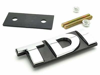 1 unids TDI coche delantero emblema para Golf Polo Touran TDI car Grille Grill badge car styling