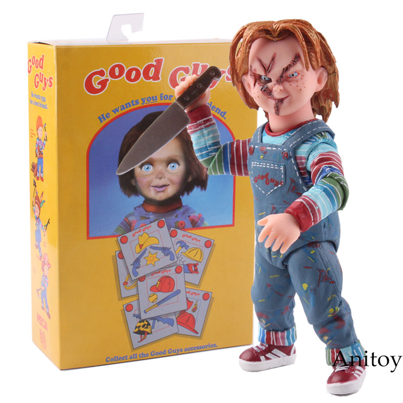 NECA Child's Play Chucky Doll Good Guys Accessories PVC Action Figure Collectible Model Toy 10.5cm KT4775