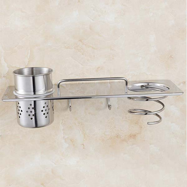 Multi Function Wall Mounted Bathroom Corner Shelf Shower Caddy Cosmetic Storage Chrome Finish In Shelves From Home Improvement On Aliexpress
