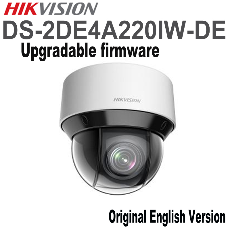 In stock English version HIK DS-2DE4A220IW-DE 20X Optical zoom 2MP Network mini outdoor indoor PTZ Dome Camera POE 50m IR free shipping ds 2df5274 a original english version 1 3mp network speed dome 20x optical zoom camera