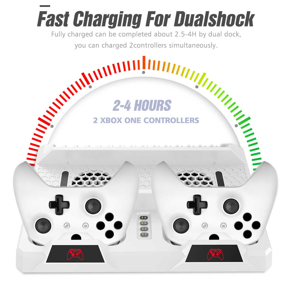 OIVO Cooling Vertical Stand Dual Controller Charging Dock Station For Xbox ONE Games Storage Charger for Xbox ONE/S/X Console