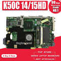 K50C האם 14/15HD REV 2.1 USB2.0 Para ASUS K40C K50C X5DC מחשב נייד האם Mainboard K50C K50C טסט לוח האם בסדר