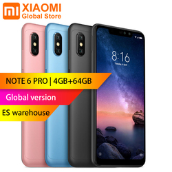 Global version - Xiaomi Redmi Note 6 Pro 4GB 64GB 6.26 inch FHD+ Snapdragon 636 Octa core 12MP+5MP Dual camera 4G Smartphone