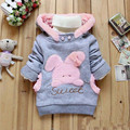 2016 Children's Clothing Retail Cartoon Rabbit Wool Coat Girl Fashion/Anorak/Winter Coat Roupa Infantil