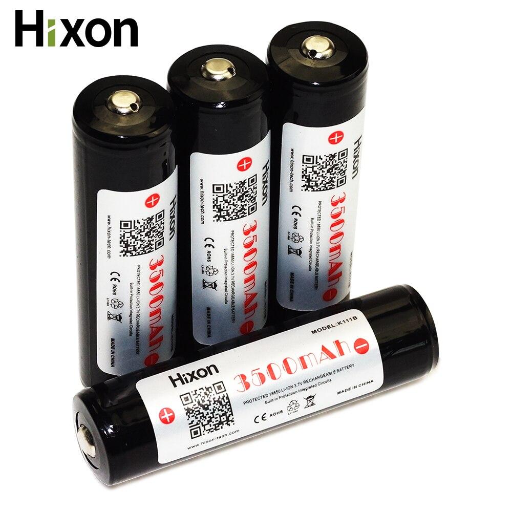 Batterie Rechargeable protégée de Li-ion de 4 pc 3500 mAh 3.7 V avec le certificat original de la CE FCC RoHS de décharge de la cellule 10A de Sanyo NCR18650GA
