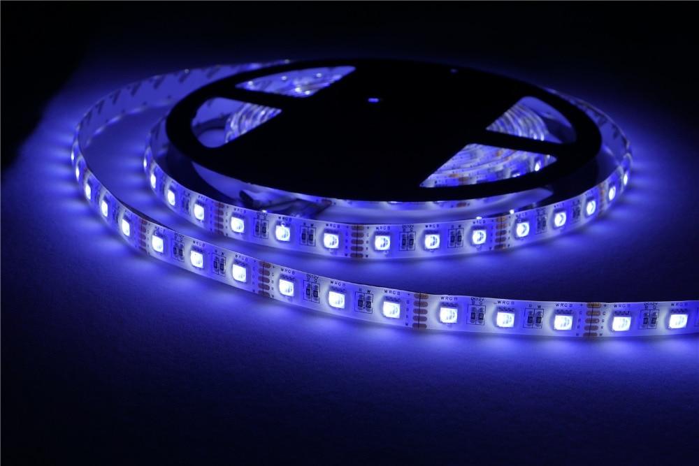LED Strip 5050 RGBW Waterproof DC12V Flexible LED Light 4 color in 1 LED Chip RGB + White / RGB + Warm White 60 LED Controller