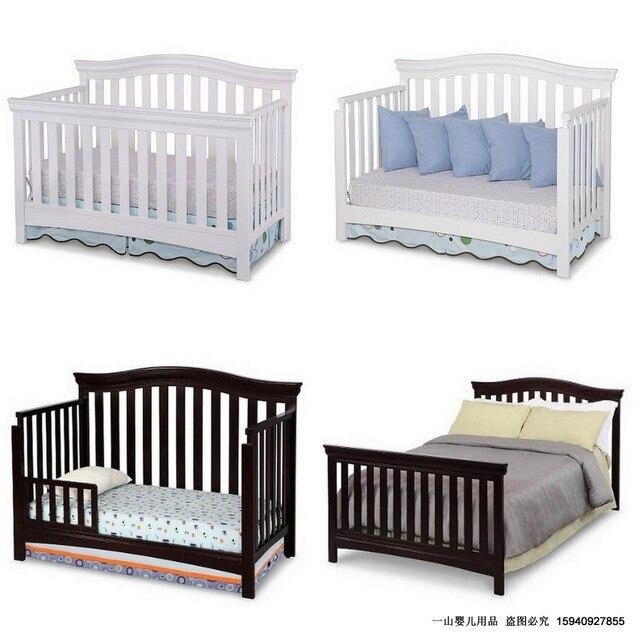 Blanca de madera maciza cama cuna juego de cuna pintura cama bb multifuncional en cunas de beb - Juego de cama para cuna ...