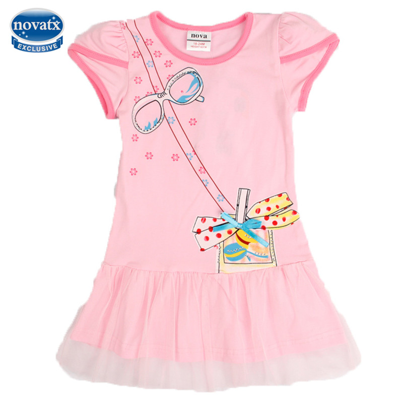 novatx H5012y retail Baby girls dresses children clothes nova kids wear fashion girls frocks hot selling frocks 2016 new arrival гладильная доска ника ника 1