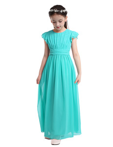 Image 3 - iEFiEL Sleeveless Kids Teenage Flower Girl Dress Floor Length Pageant Wedding Party Formal Occassion Wedding Girls Tulle Dress