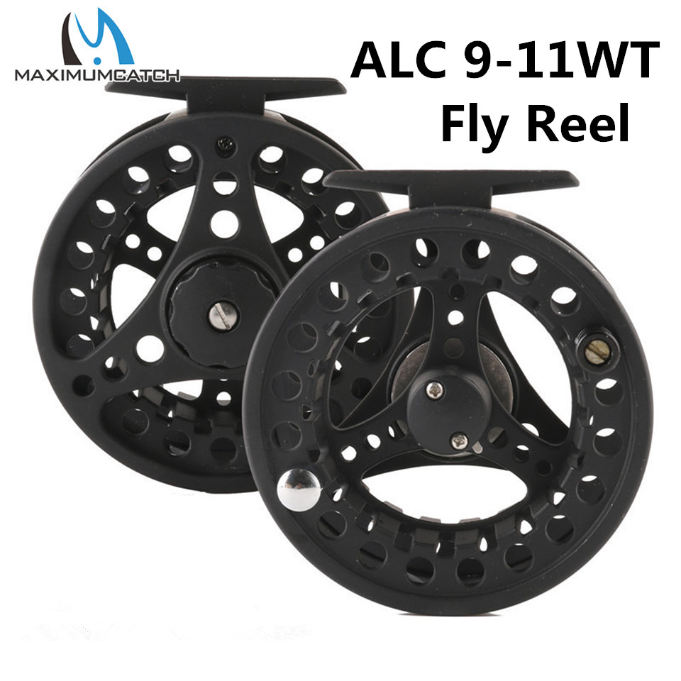Maximumcatch High Quality Fly Fishing Reel 2-11 WT Right or Left Hand Can Be Changed Die Casting Black Fly Reel