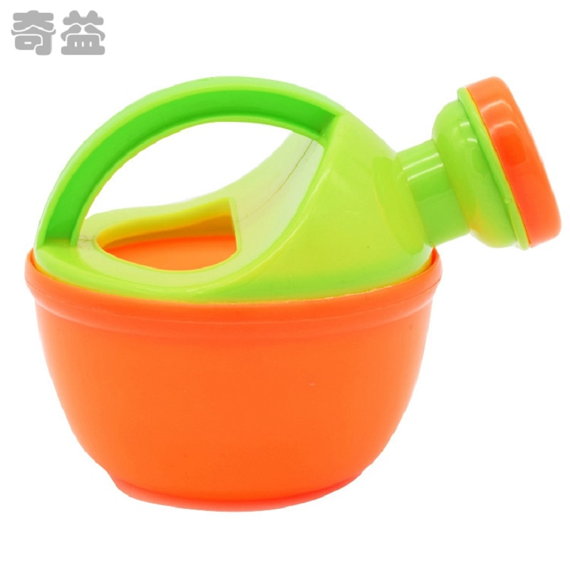 1x Baby Bath Watering Kettle Shower Can Watering Plastic Pot Beach Toy Play Sand Toy Gift For Kids Random Color SYT9352