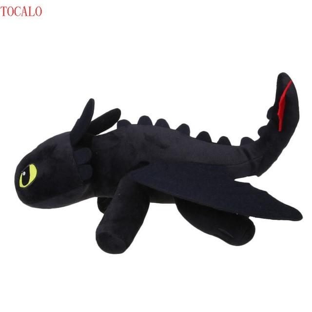60 см большой NIGHT FURY Плюшевые игрушки Как приручить дракона 2 Беззубик  Дракон чучело Куклы 64df0663b0555