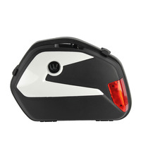 Hot Selling V 35 2 pieces Black Motorbike Tail Box Motorcycle Side Case ABS Plastic Side Pannier 21L