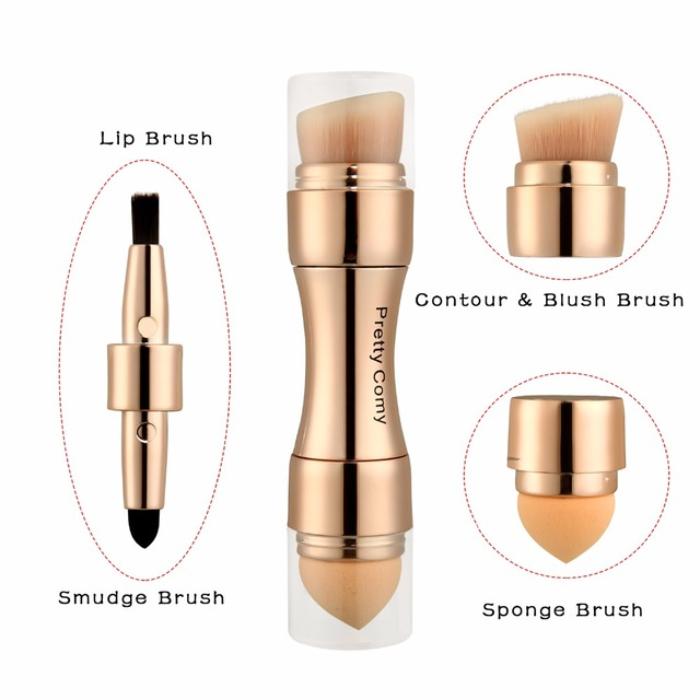 Professional Makeup Brushes Eyebrow Eyeliner Concealer Foundation Blush Powder Makeup Tool Cosmetic 4 in 1 2