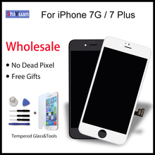 купить 5Pcs LCD Screen For iPhone 7G 7 Plus Screen LCD Display Digitizer Touch Screens Replacement LCDS High Quality Black White по цене 4587.39 рублей