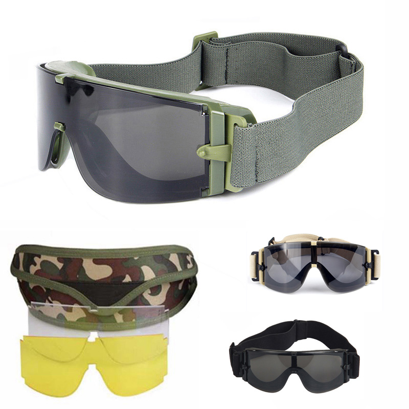 Safety X800 Tactical Glasses Army Military Goggles Airsoft Paintball Shooting Hunting Combat Windproof Protective Sunglasses