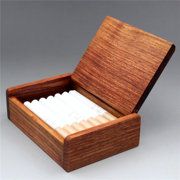 Wooden card case, cigarette box, business card holder, storage box ...