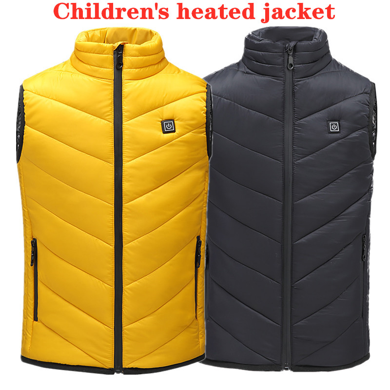 New Trend Outdoor Sports USB Infrared Kids Heating Vest Teens Student Jacket Winter Electric Thermal Clothing Waistcoat Hiking