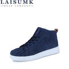 LAISUMK Hot Sale Man Canvas Lace up Casual Shoes Fashion Male Spring Autumn Walking Footwear Breathable Mens Flat