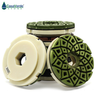 DC CEGPP02 5 inch edge polishing pads abrasive polishing wheels snail lock back for marble and granite