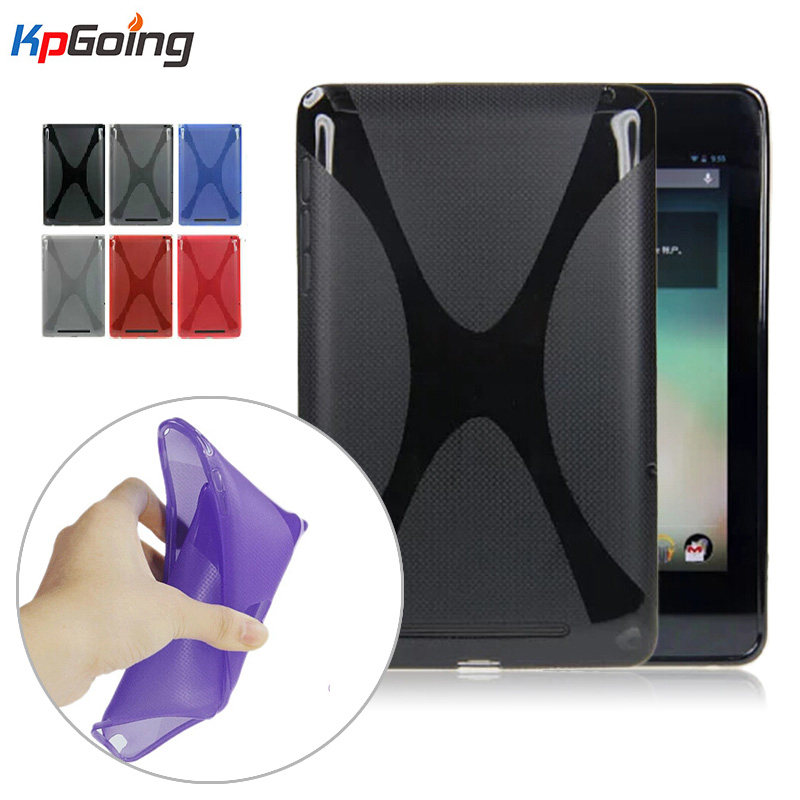 For Google Nexus 7 1st Gen Cases Matting TPU Cute X-line Grip Soft TPU Sleeve Protective Back Cover Case Matte for Nexus 7 1st polar soft strap st m xxl gen
