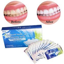 14 par de dentes clareamento tiras 3d branqueamento brilho dentes avançado duplo elástico gel limpeza para cuidados com os dentes dental branqueamento ferramenta