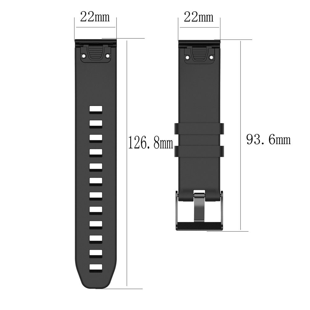 22mm Replacement Silicone Texture Wrist Strap Band For Garmin MARQ series Fenix 5 Plus Forerunner945 935 Universal Band Bracelet in Smart Accessories from Consumer Electronics